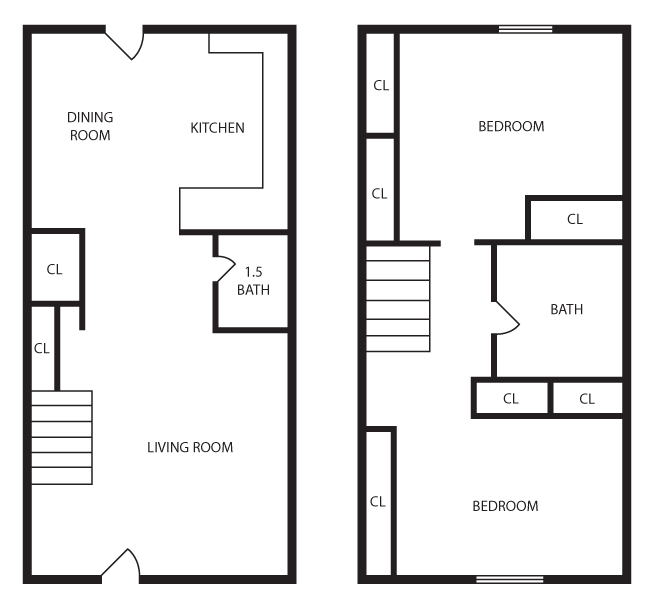 Two Bedroom Townhouse Plans 28 Images Squire Village Floor Plans Two Bedroom Townhouse 3