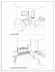 1 Bedroom/1 Bathroom - 650 square feet