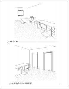 1 Bedroom/1 Bathroom - 720 square feet